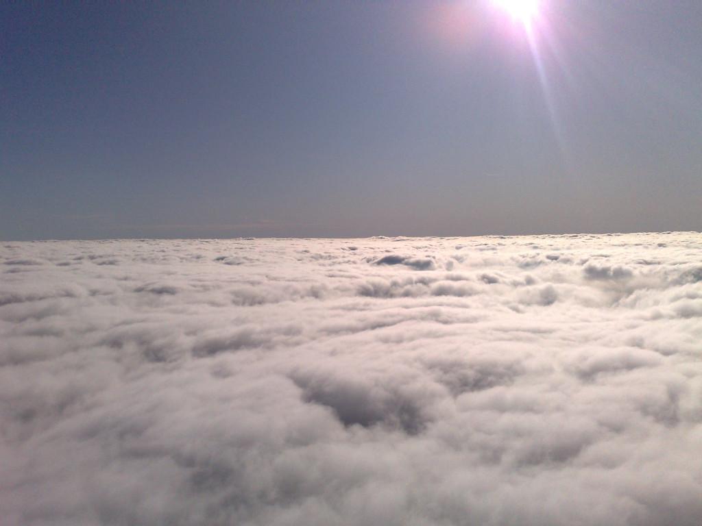 let balonem v oblacich